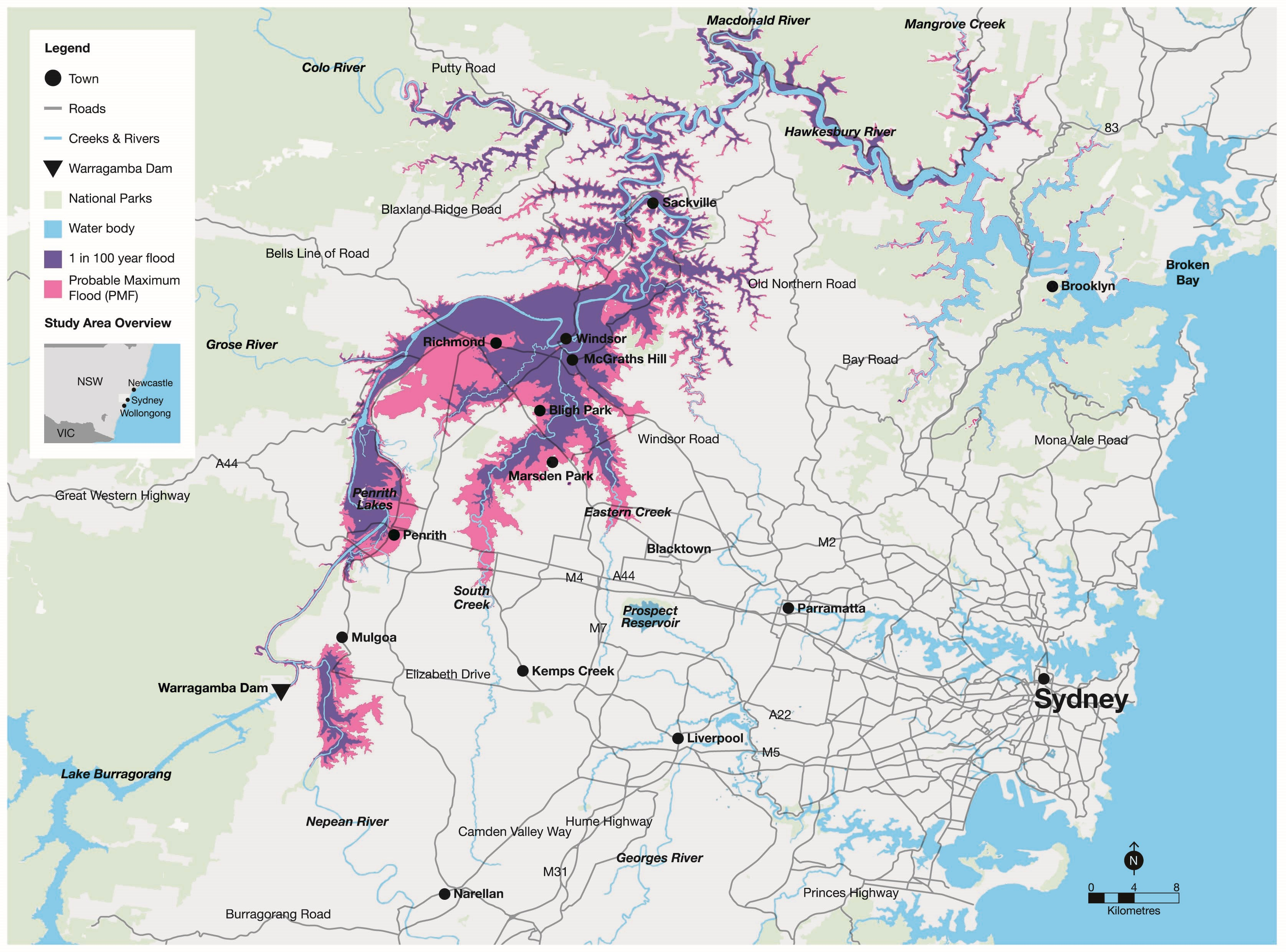The Hawkesbury-Nepean Valley Floodplain Map