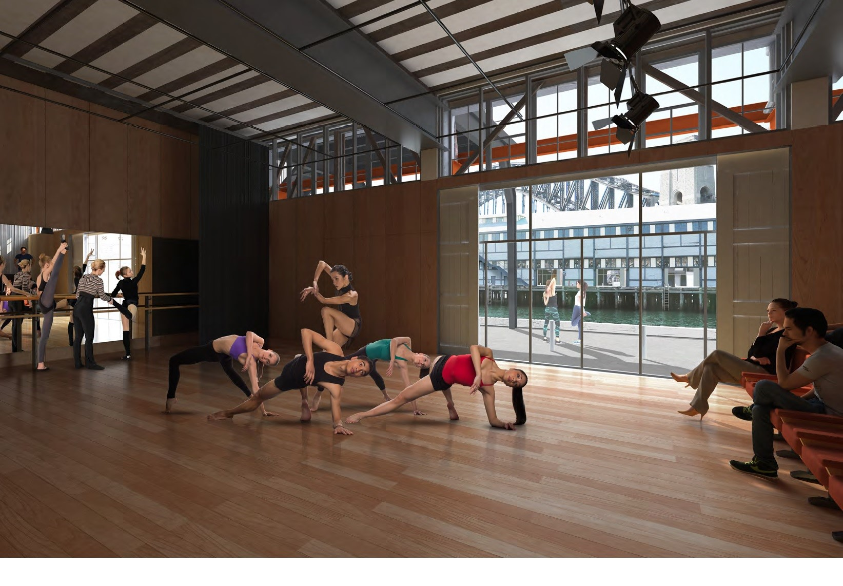 Dance Company studio with dancers practising
